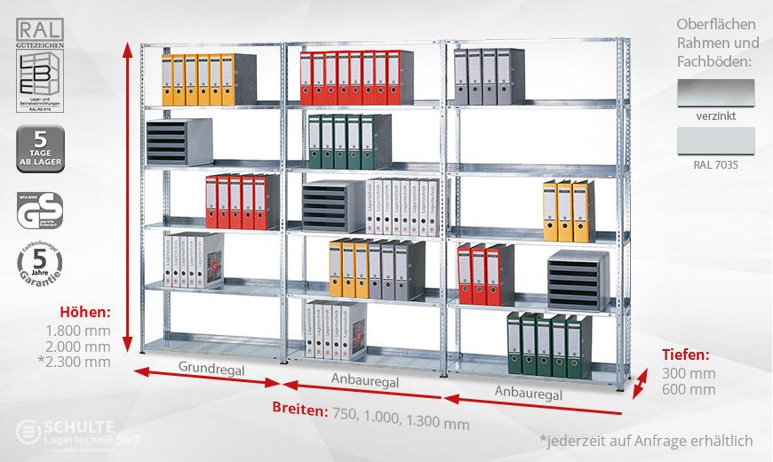 Buroregale Mit Schraubsystem Online Kaufen Schulte Lagertechnik Shop